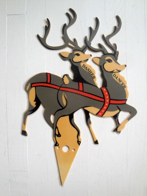 Sleigh Decoration Images On Most Outdoor Christmas Decorations Santa And Reindeer Cute